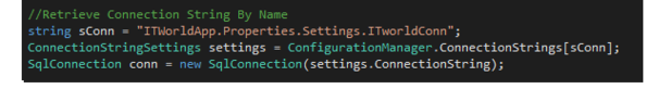 Using ConnectionStringSettings