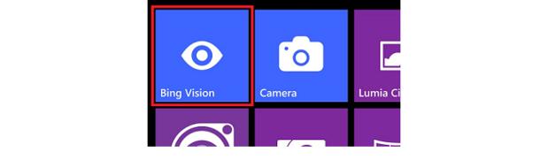 Select Bing Vision lens