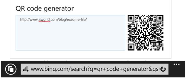 Bing.com QR code generator