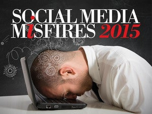 Top 10 social media misfires of 2015