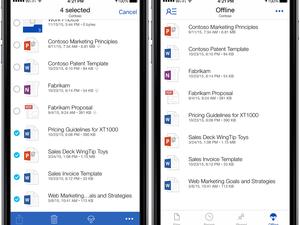 OneDrive for iOS offline storage