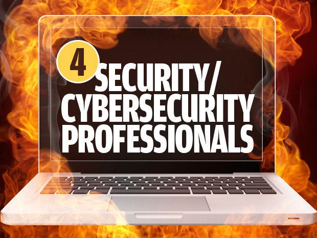 Security/cybersecurity professionals