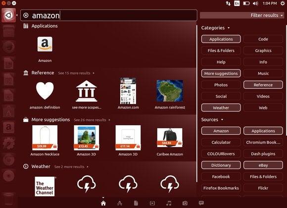 ubuntu online search results