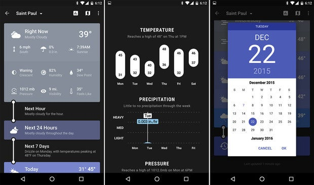 android essentials weather timeline