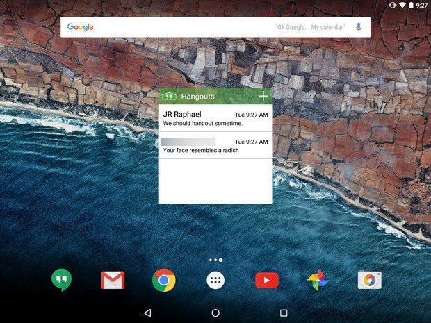 Android Hangouts Widget Replacement