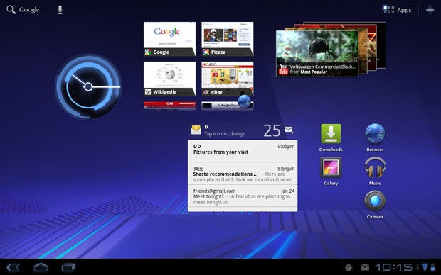 Android Honeycomb Tablet UI