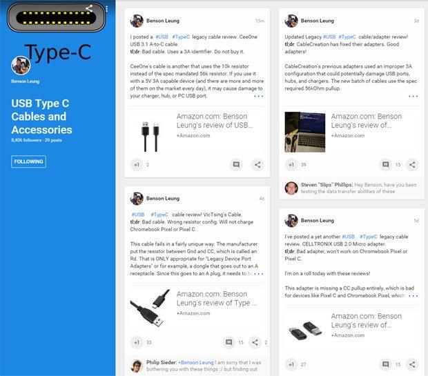 Benson Leung USB Type-C Reviews