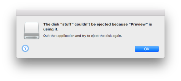 cant eject disk