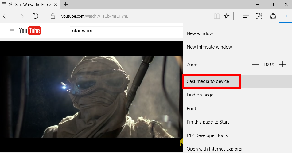 How to use Microsoft Edge's casting feature to beam media to your TV
