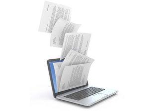 computer files stock laptop