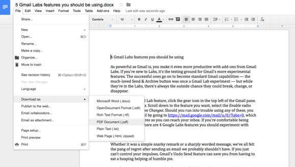 documents to pdf