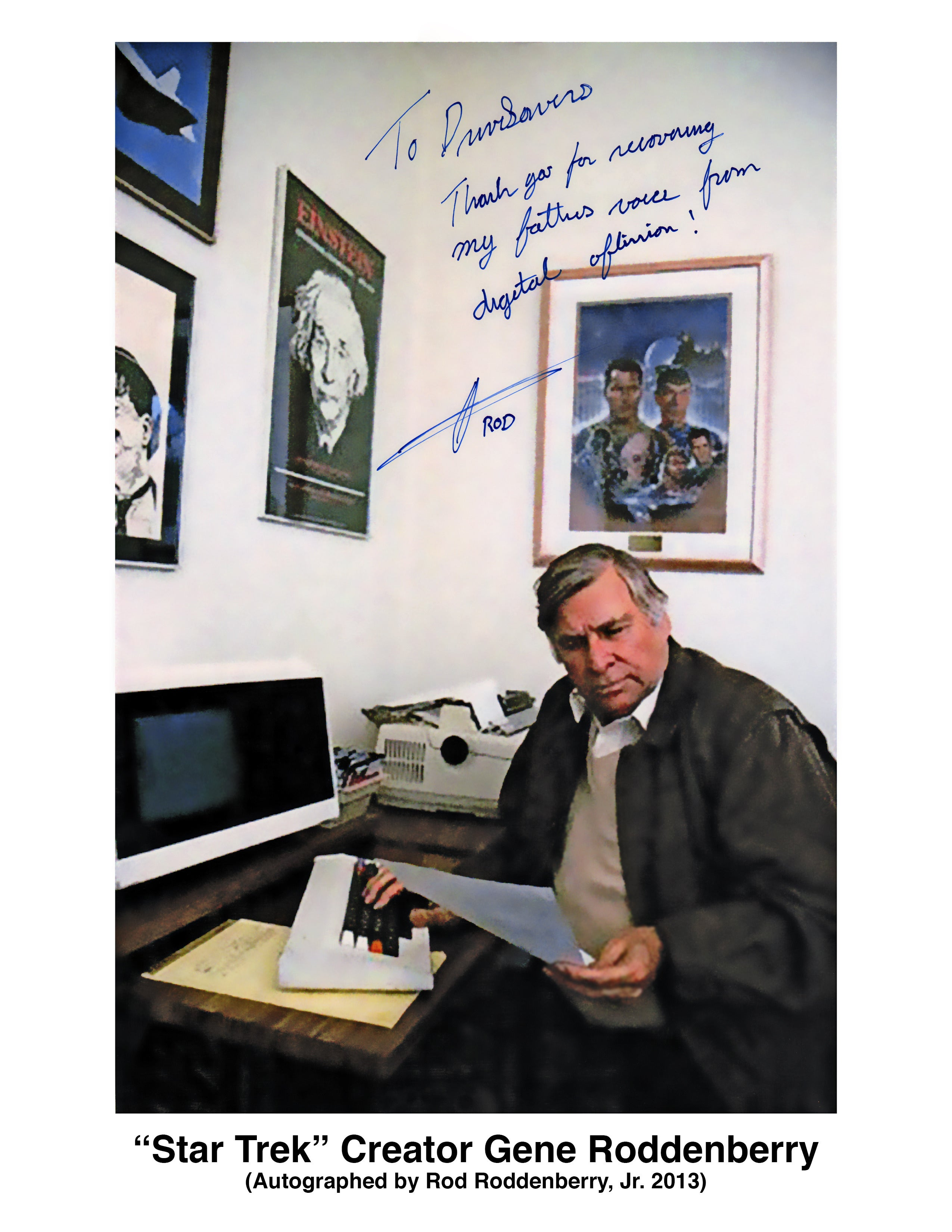 How Star Trek creator Gene Roddenberry's words were freed from old floppy disks