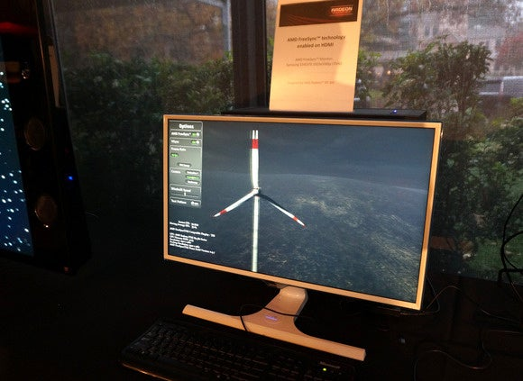 FreeSync technology being demonstrated.