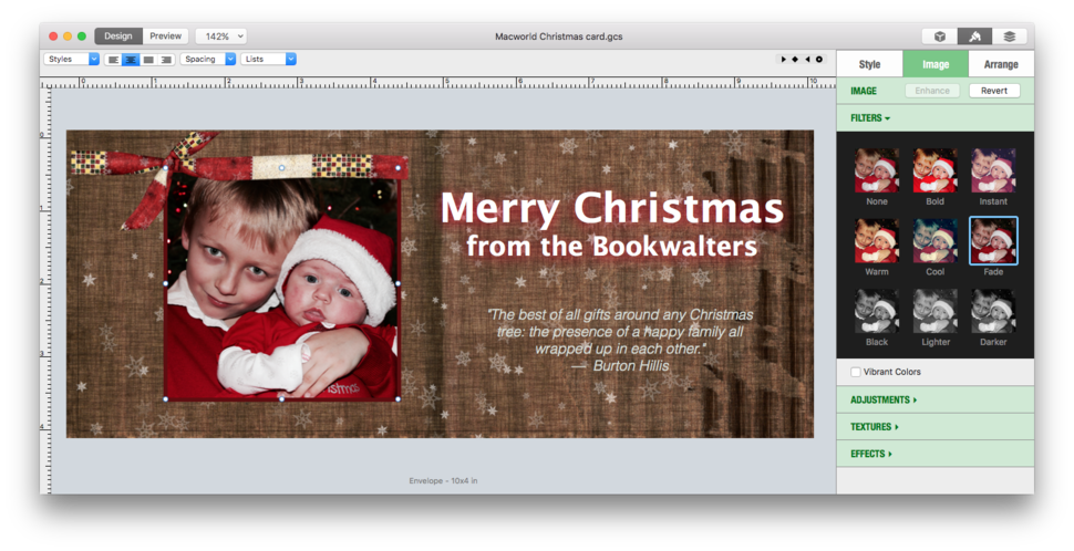 Greeting card shop 3 review mac design software bulks up on new attractive templates make it easy to create photo cards although the included designs tend to be too christmas centric m4hsunfo