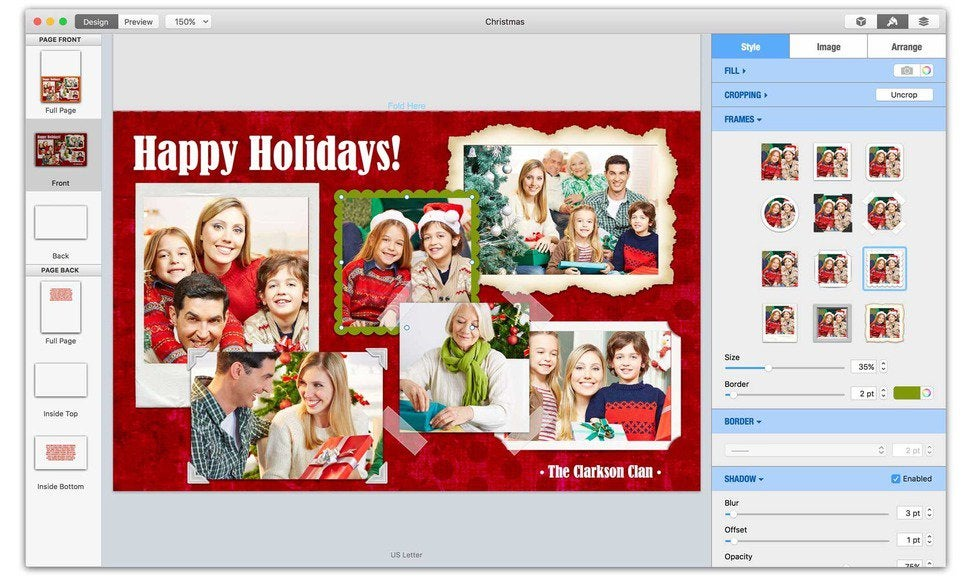 Greeting card shop 3 review mac design software bulks up on new greeting card shop 3 makes design easier than ever with one click frames for imported photos m4hsunfo