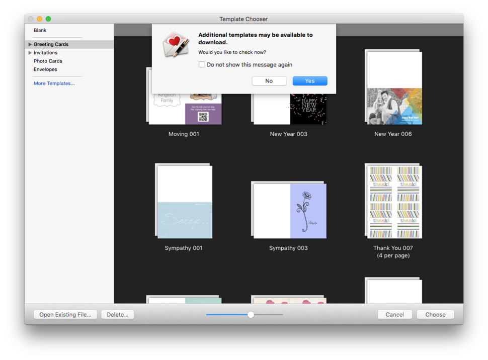 Greeting card shop 3 review mac design software bulks up on new need more variety than the included templates users can download more free of charge from the chronos website stopboris Images