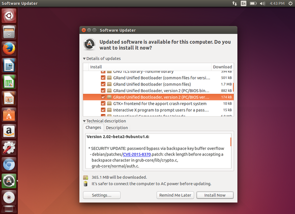 grub patch in ubuntu