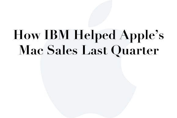 ibm apple mac sales