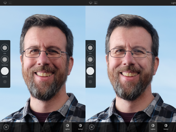 ipad pro photogs pencil before after