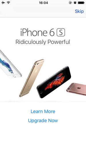 iphone 6s popup