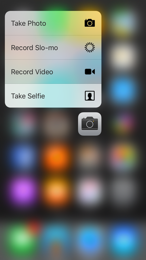 iphone tips quickly jump to a specific shooting mode with 3d touch