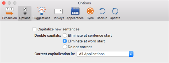 mac 911 fix double caps in textexpander