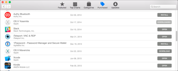 mac911 app store old os x