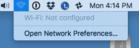 mac911 wifi not configured