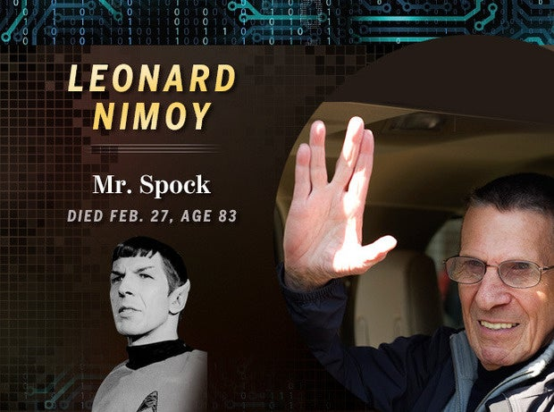 Leonard Nimoy: Mr. Spock (Died Feb. 27, age 83)