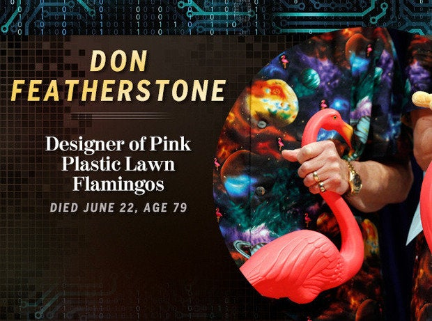 Don Featherstone: Designer of Pink Plastic Lawn Flamingos (Died June 22, age 79)