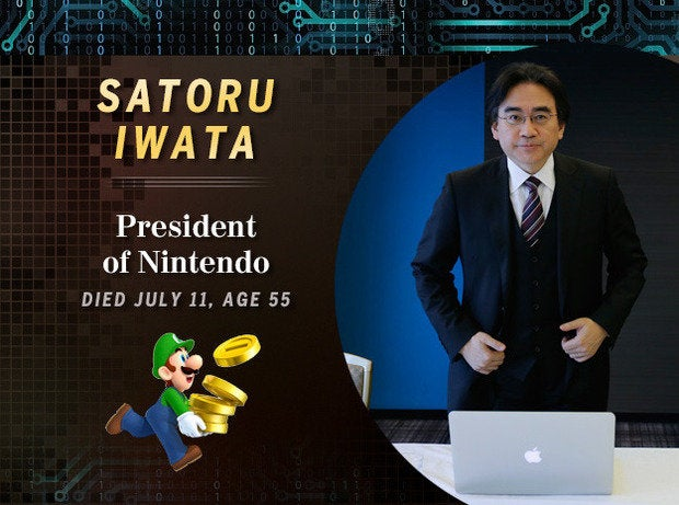 Satoru Iwata: President of Nintendo (Died July 11, age 55)