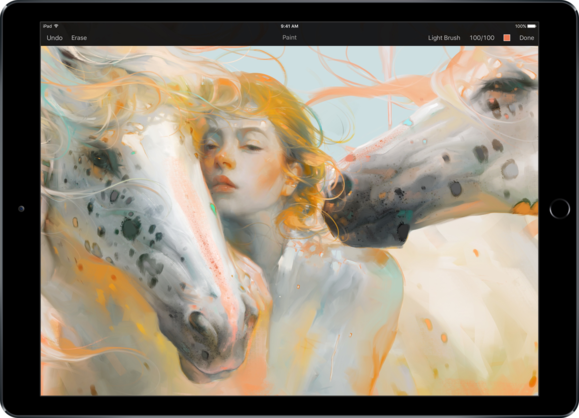 pixelmator on ipad pro apple pencil support