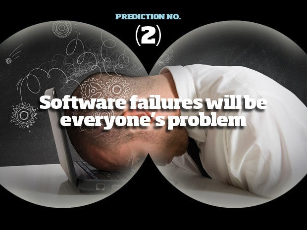 Prediction #2: Software failures will be everyone's problem
