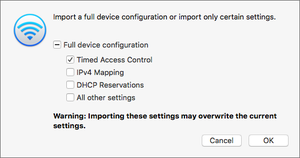 private i import device configuration airport