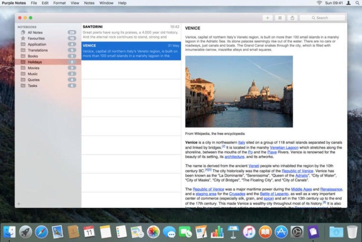 Mac notes app