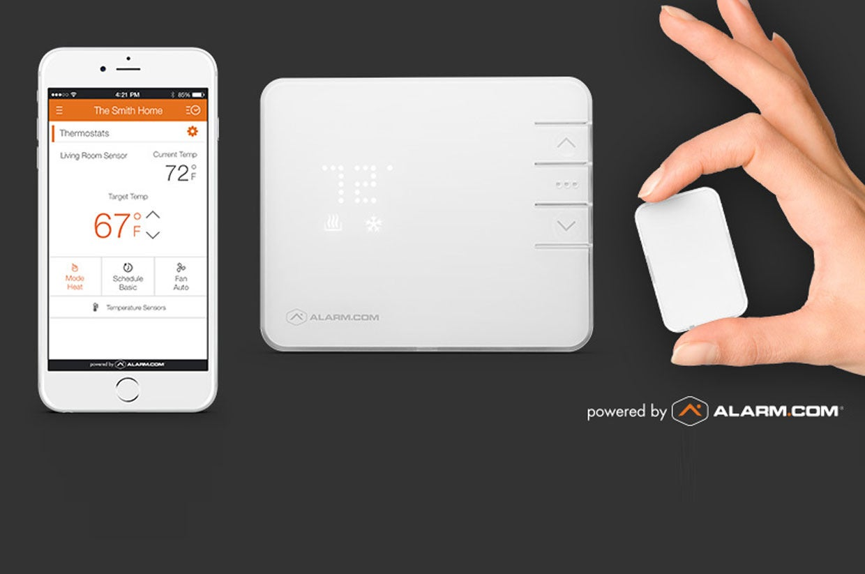 Alarm Com S Smart Thermostat Gains Remote Temperature Sensors