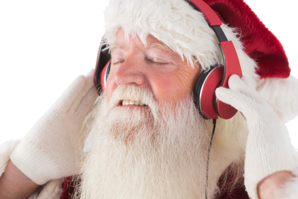 santa headphones thinkstockphotos 526024301