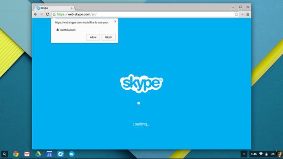 skype chromebooks