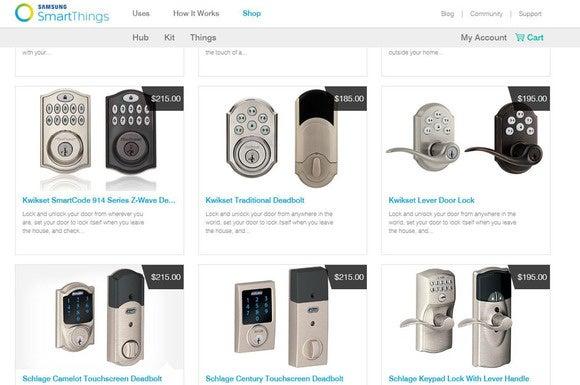 SmartThings-compatible doorlocks