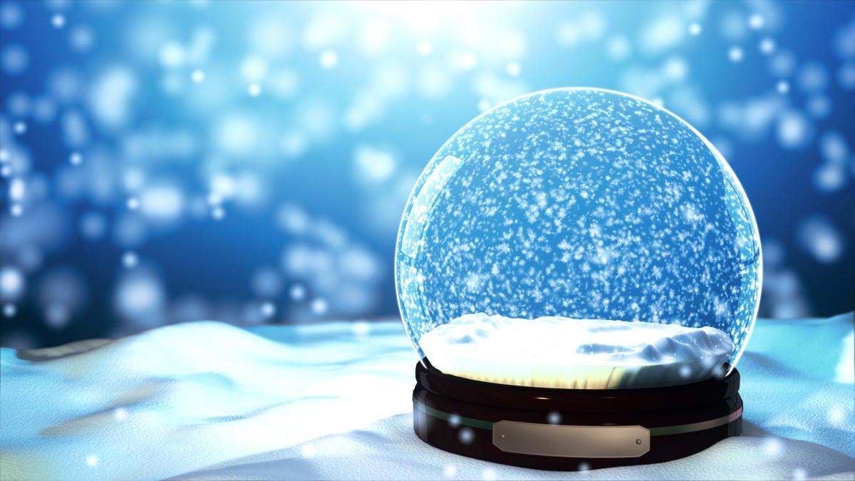 snow globe with winter scene