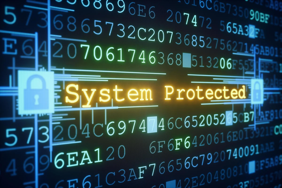 System Protected computer screen security