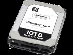 ultrastar he10 photo helium hard drive