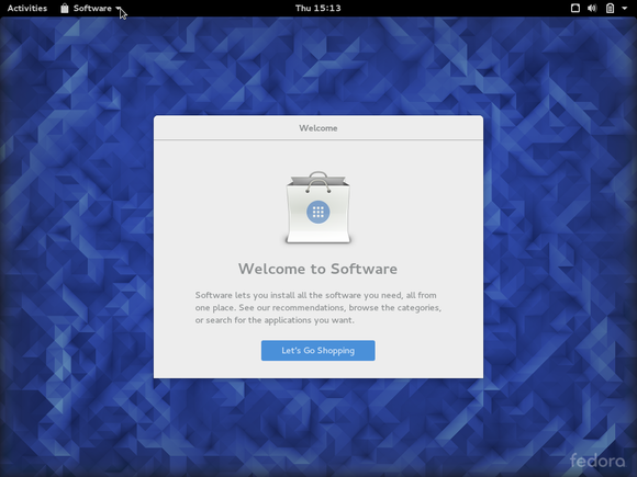 welcome to gnome software on fedora