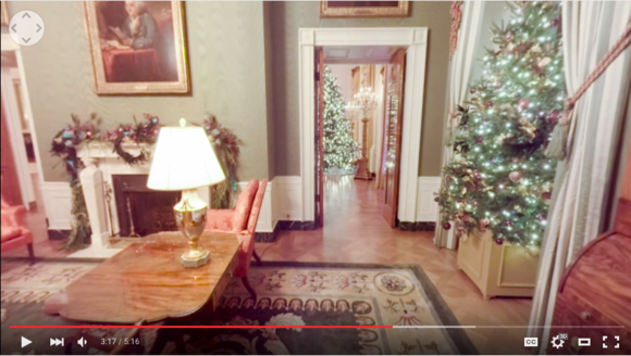Get a peek at the white house 39 s holiday decorations with for 360 degree house tour