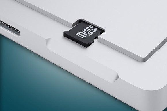 windows tablet sd card storage