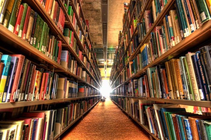 library books shelves aisles