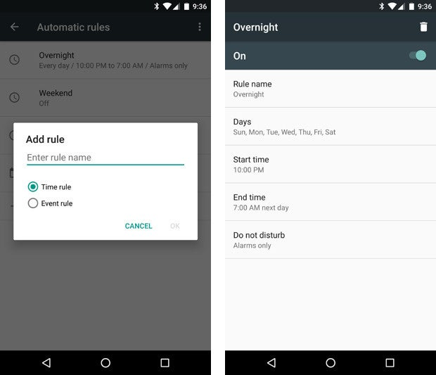 Android 6.0 Marshmallow: Do Not Disturb Rules