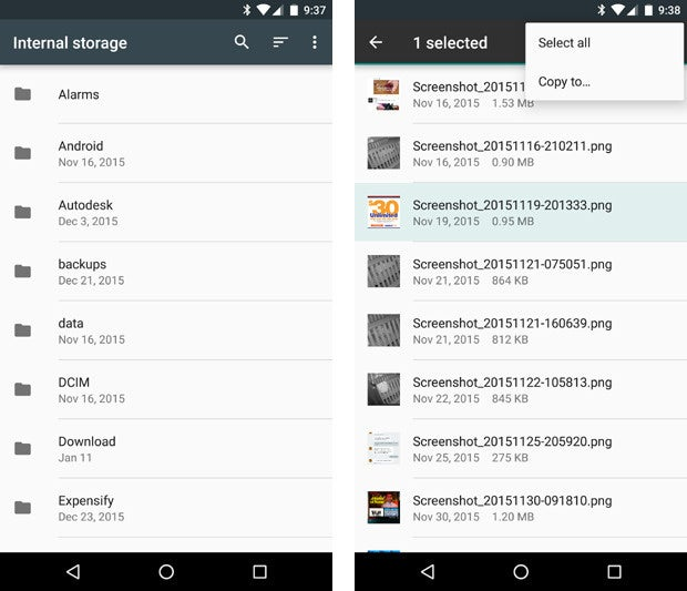 Android 6.0 Marshmallow: File Manager