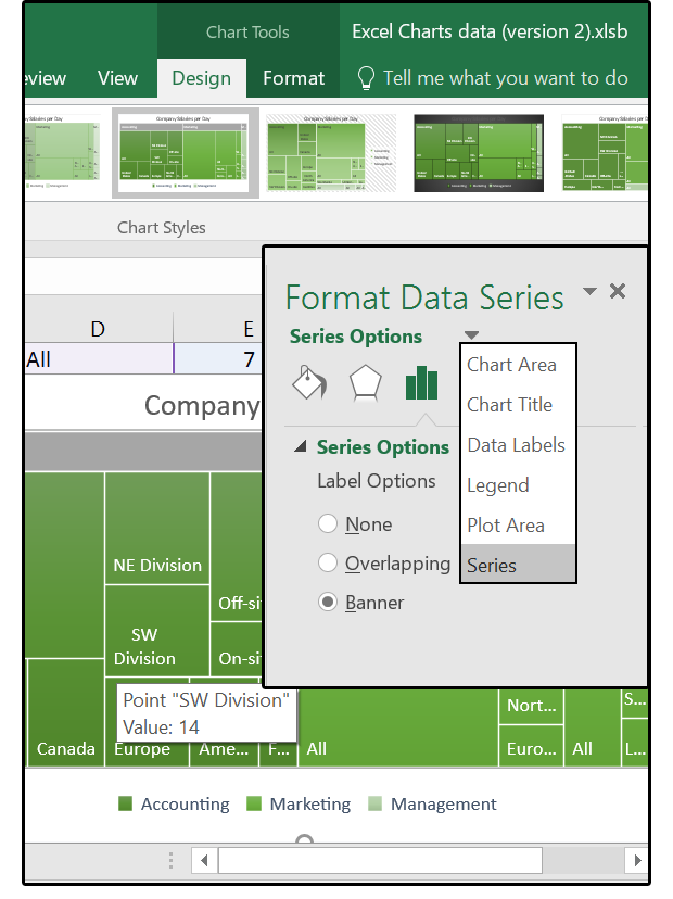 What to do with Excel 2016's new chart styles: Treemap