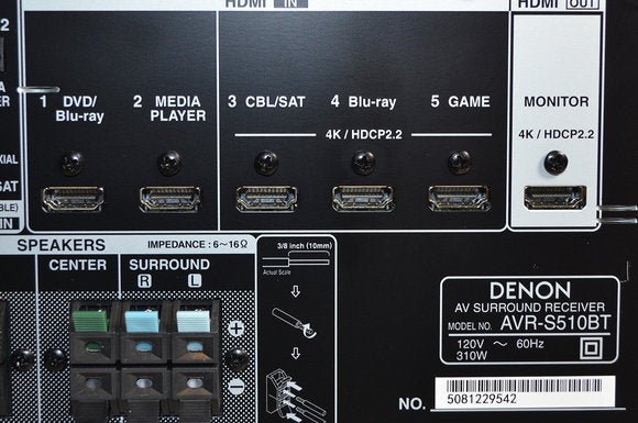 denon receiver rear